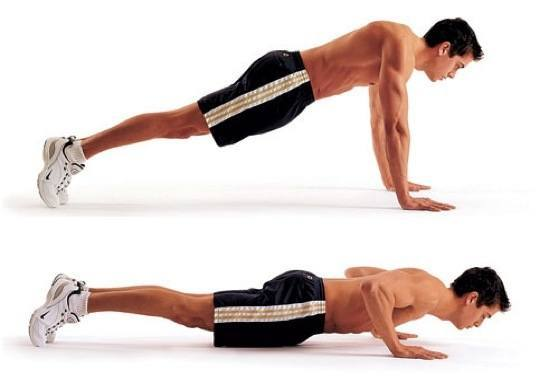 Press up test during the 12 week body transformation