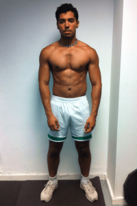 Sacha after his 12 week body transformation in London