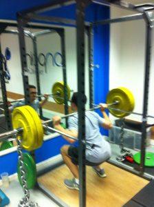 Deep chain squat London