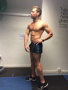posing practice after 10 weeks on my body transformation journey