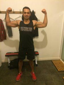 Biceps pose end of 12 weeks